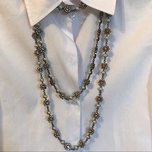 NEW Zara pearl and stones necklace